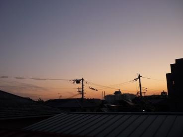 10月17日の夕空